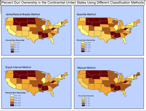 I spent much of my time in the states that are the darkest red-orange...
