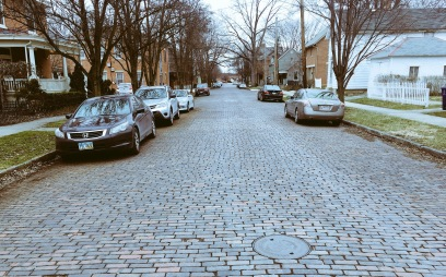 The German Village has a weakness for cobbled streets. Me too.
