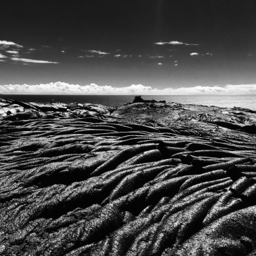 Pahoehoe lavas, southern flank of Kilauea, Big Island, HI. A stunning landscape.