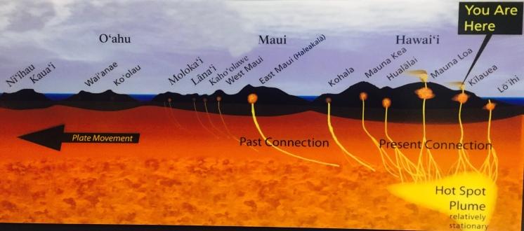 Geodynamic setting of the Hawaiian island chain. Hot-spot-tastic!