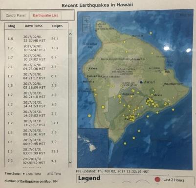 Earthquakes on Hawai'l