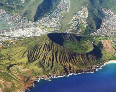 Koko Crater (http://www.theworldgeography.com/2012/12/unusual-craters.html))